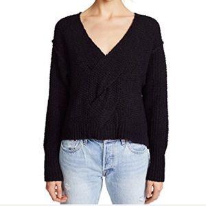 Free people coco sweater black NWT